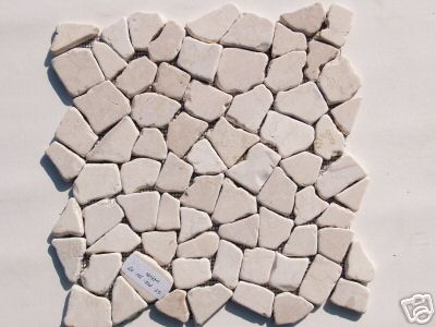 white interlocking mosaic tile